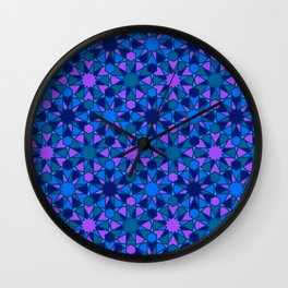 Spanish Director - Al-Nasir Pattern Blue with Blue Lines Wall Clock