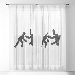 Stickman Throw Sheer Curtain