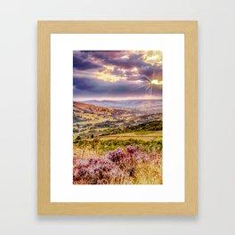 Scenic view of Hope valley, Peak District, U.K. Framed Art Print