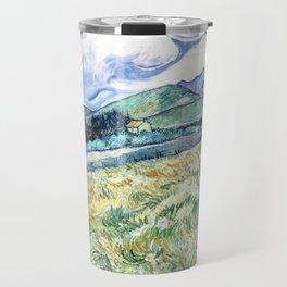 Vincent Van Gogh - Landscape from Saint Remy Travel Mug