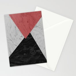 MARBLE TRIANGULES Stationery Cards