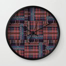 PLUSH N PRETTY PLAID Wall Clock