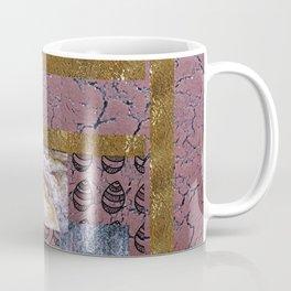 Purple Texture and Doodle . Art Coffee Mug