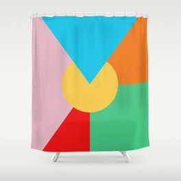Circle Series - Summer Palette No. 3 Shower Curtain