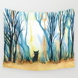 Calabria Whimsical Cat Wall Tapestry