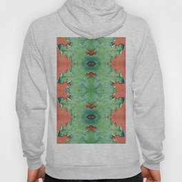 Green brown old cracked paint wall Hoody