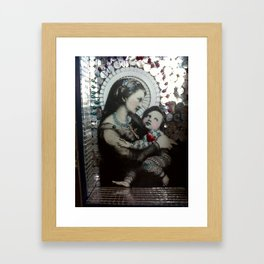 Religion. Pin Head Jesus  Framed Art Print