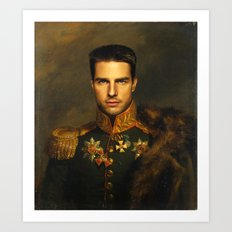 Tom Cruise - replaceface Art Print
