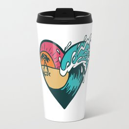 Wave Heart Travel Mug