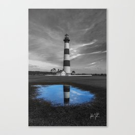 Bodie Island Lighthouse and Puddle Canvas Print