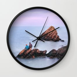 Fishing with Dad Wall Clock