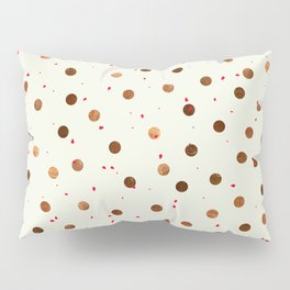 Copper Polka Dots With Red Hint Pattern Pillow Sham