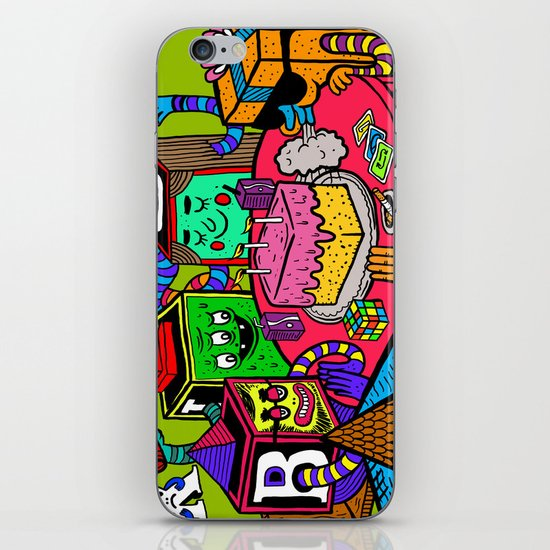 """Block Party"" by Steven Fiche iPhone & iPod Skin"