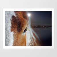 horses Art Prints featuring horses  by mark ashkenazi