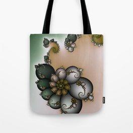Trinket Flower Fractal Tote Bag