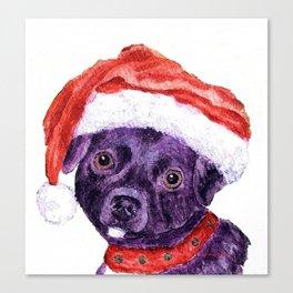 Christmas Chihuahua By Annie Zeno Canvas Print