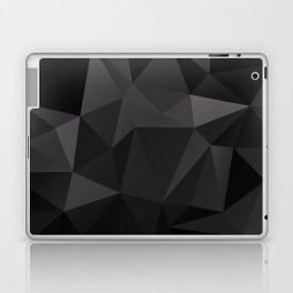 Abstract of triangles polygo in black colors Laptop & iPad Skin