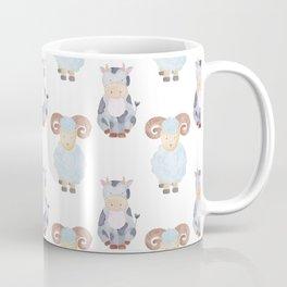 Cow and Sheep Pattern Coffee Mug