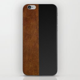 Carbon Leather Mix iPhone Skin