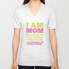 I am Mom Unisex V-Neck
