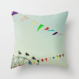 summer festival Throw Pillow