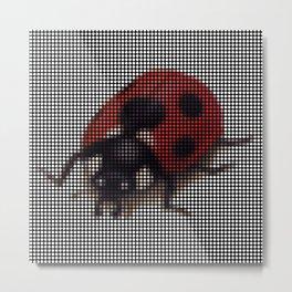 Ladybug 2.0 by Lars Furtwaengler | Digital Interpretation | 2013 Metal Print