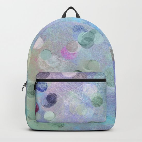 Watercolor Abstract Geometric Pattern Backpack