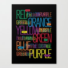 Say The Color Canvas Print