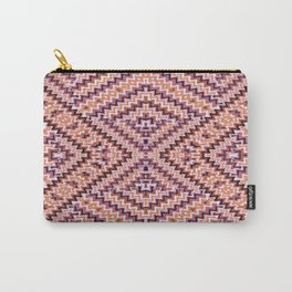 Weave Pattern - Browns and Mauve Carry-All Pouch
