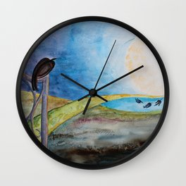 Crow Moon Wall Clock