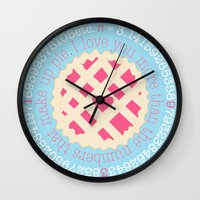 pi Wall Clocks featuring Pi  by inkextract