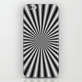 32 Rays in Black and White iPhone Skin