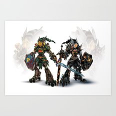 Mirror Reforged Art Print