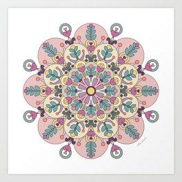 Happiness is Now Mandala Art Print