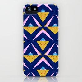 Modern Global Blue Motif iPhone Case