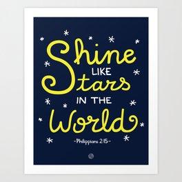 Shine Like Stars Art Print