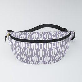 NIGH mauve and white weave a smock pattern Fanny Pack