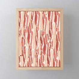Bacon pattern Framed Mini Art Print