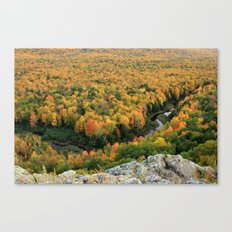 Autumn Colors at the Carp River Valley, Porcupine Mountains State Park, Upper Peninsula, MI Canvas Print