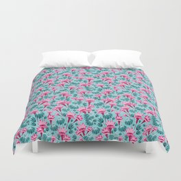 Pink & Teal Lovely Floral Duvet Cover