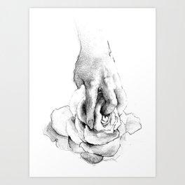 Hand&Rose study I Art Print