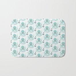 Squid Pattern Bath Mat
