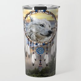 Wolf, Bear and Dream Catcher Travel Mug