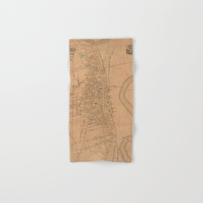 Vintage Map of Concord NH (1851) Hand & Bath Towel