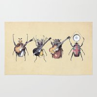 classic Area & Throw Rugs featuring Meet the Beetles by Eric Fan