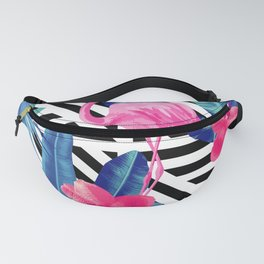 Tropical Pink Flamingo Pattern Fanny Pack