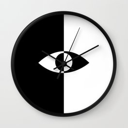 Eye - in a black has a white And in a white has a black Wall Clock