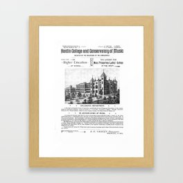 Hardin College & Conservatory of Music in Mexico, Missouri, 1892 Poster Framed Art Print
