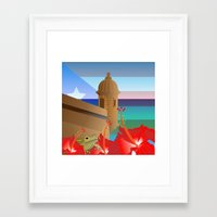 puerto rico Framed Art Prints featuring Puerto Rico #2 by PADMA DESIGNS PR