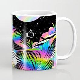 Vaporwave Palm Coffee Mug